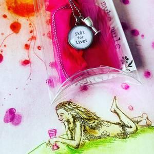 Bilde av WORDS, «Skål for livet» m/ champagneglass