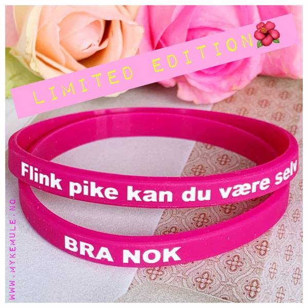 To rosa rapp, flink pike kan du være selv